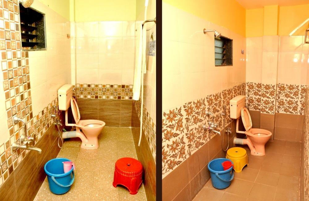 toilet bath at morya beach resort